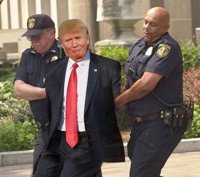 Image result for trump arrested