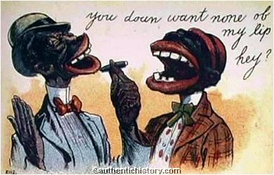 1900s Postcard You Doun Want None of My Lip