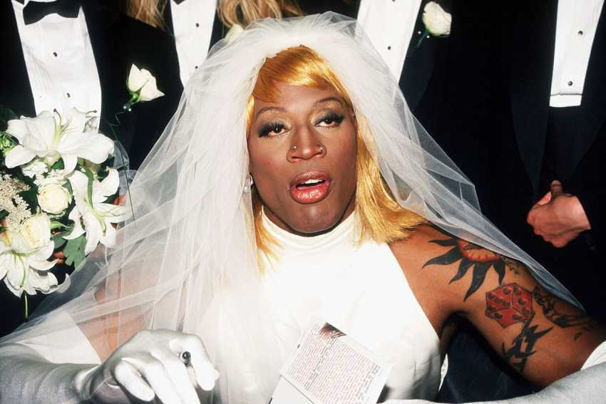 Dennis Rodman wedding dress