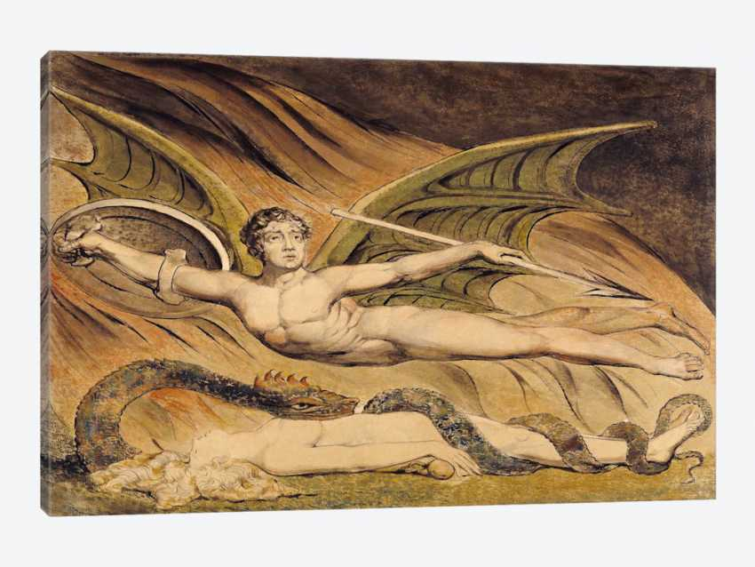 Satan Exulting Over Eve by William Blake