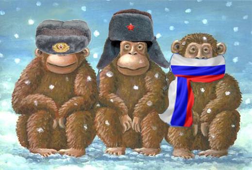 Three Rusian monkeys
