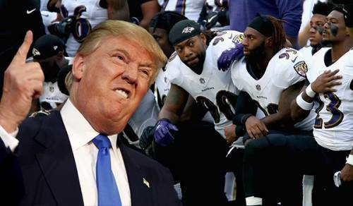 Trump football kneel