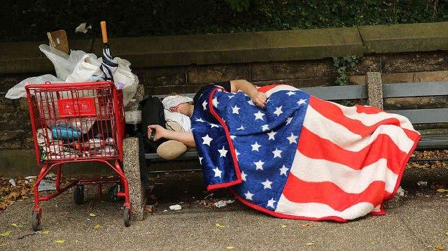 homeless flag
