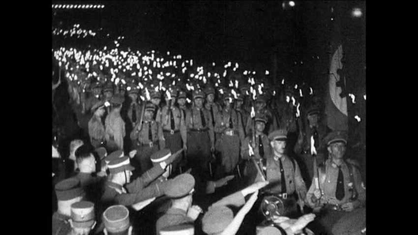 Nazi torch light parade