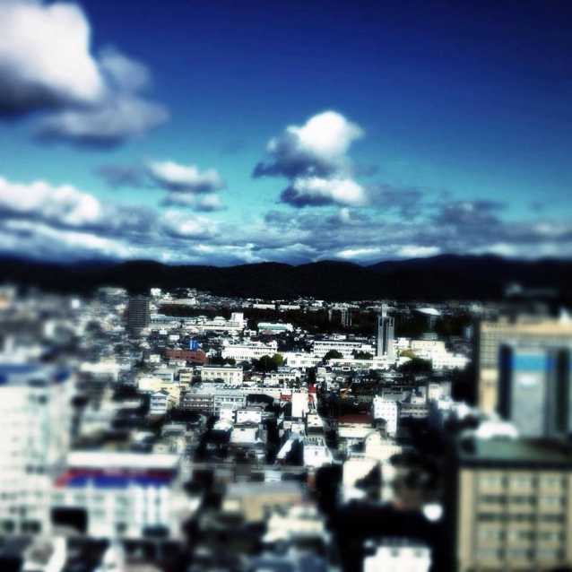 View from the 20th floor Okayama Japan Simon McLean