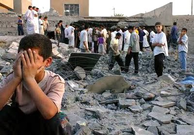iraq child fallujah rubble