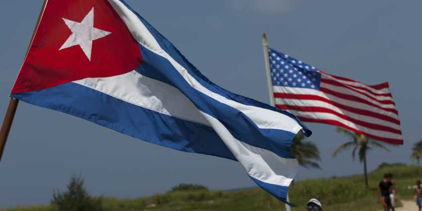 American Cuban Flags
