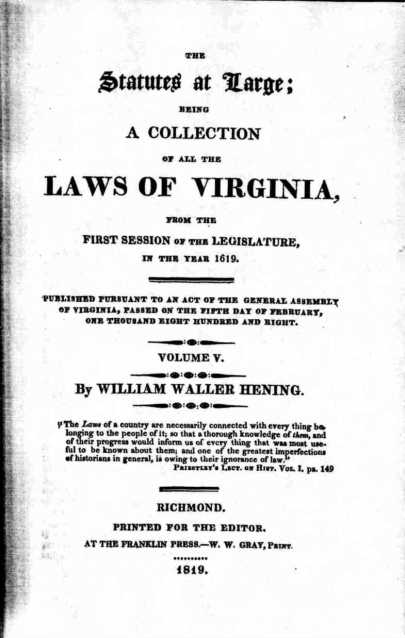Laws of Virginia