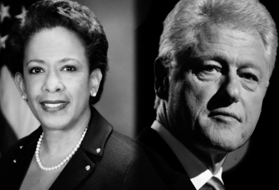 Loretta Lynch and Bill Clinton