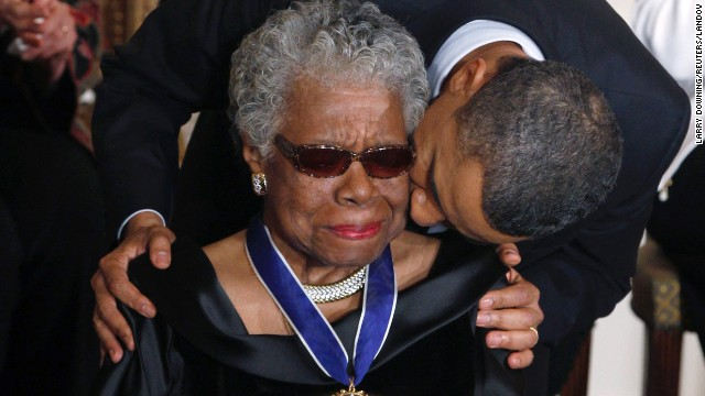 Maya Angelou and President Obama