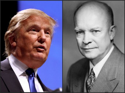 President Dwight Eisenhower Donald Trump