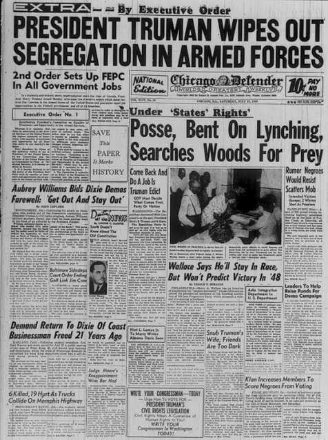 Truman desegregation of armed forces