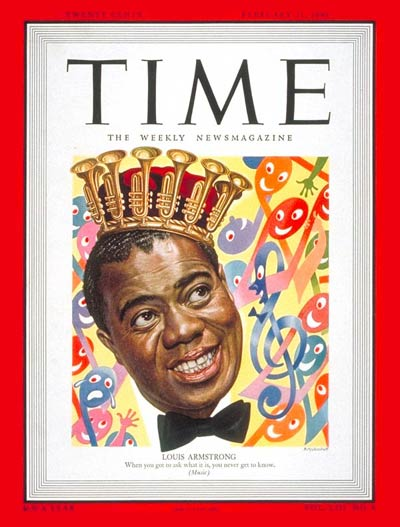 Louis Armstrong Time magazinr