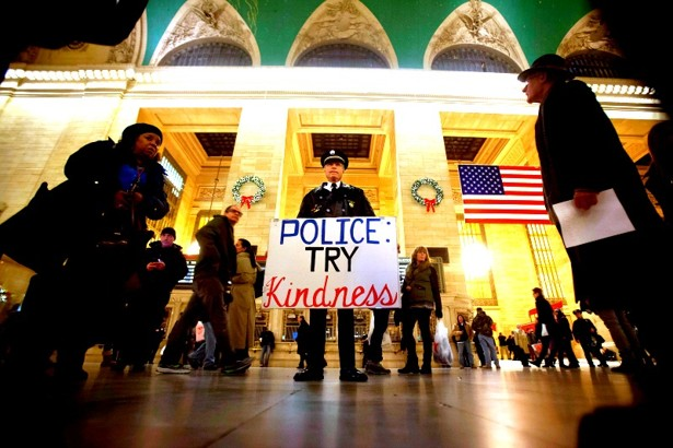 Police try kindness