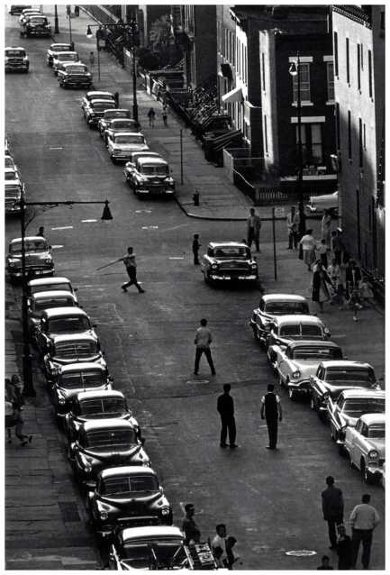 Brooklyn stickball in the street