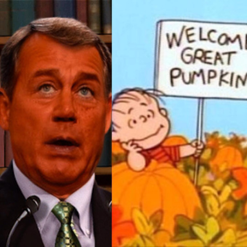 John Boehner Great Pumpkin