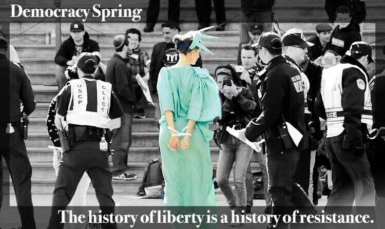 Liberty in handcuffs