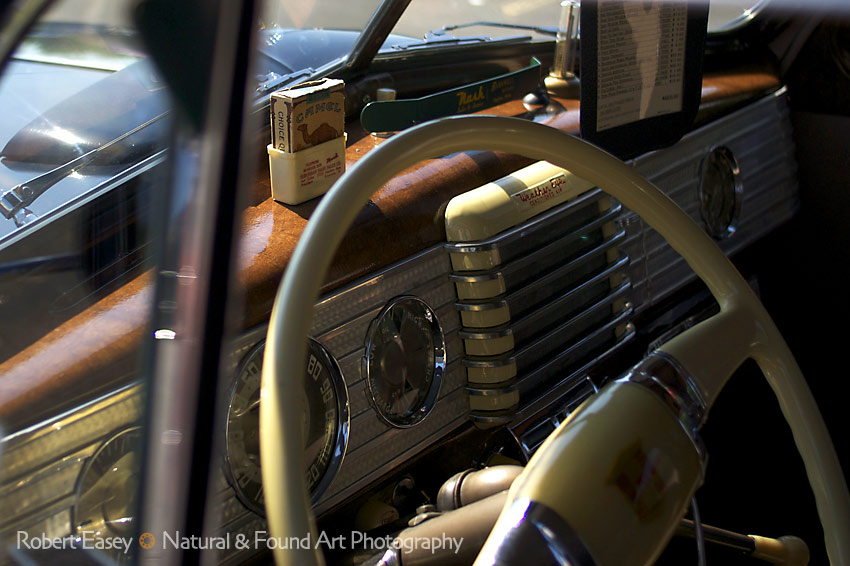 interior shot of a 1946 Nash